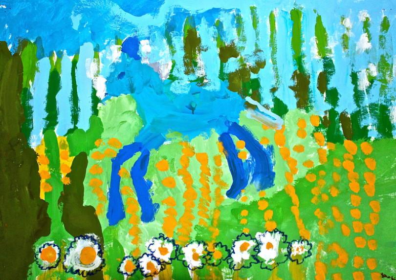 Malen, Zeichnen, Kleinkinder, Frühförderung, Malunterricht, Malschule Friedenau